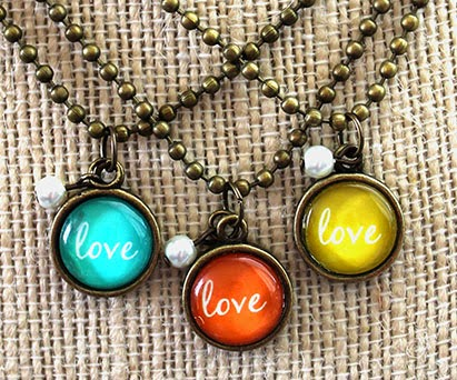 Mini Love Charms by A Joyful Soul.com