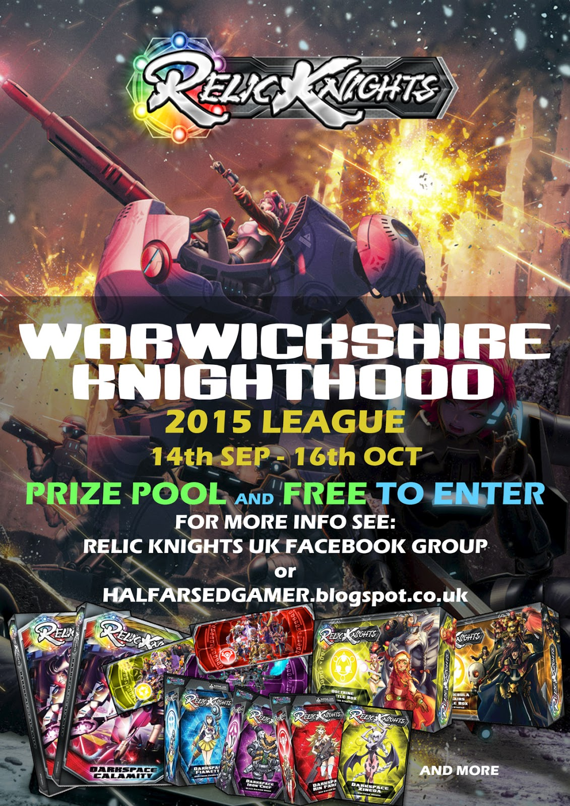 The Half Arsed Gamer July 2015 Ninja Division Painting Cerci Speed Circuit Updated Poster For Warwickshire Knighthood With Prize Support