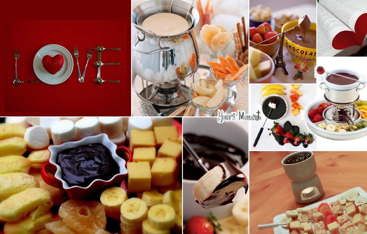 Valentine's Chocolate Fondue Recipe — Dishmaps