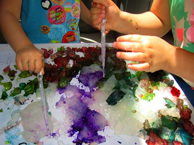 Art and creativity gelatin giggles for summer fun for Painting ideas for 4 year olds