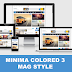 Minima Colored 3 Mag Style Blogger Theme