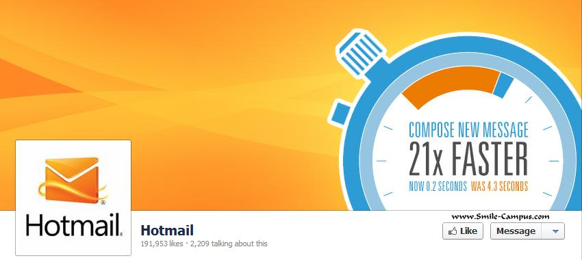 Hotmail.com Facebook Timeline Page