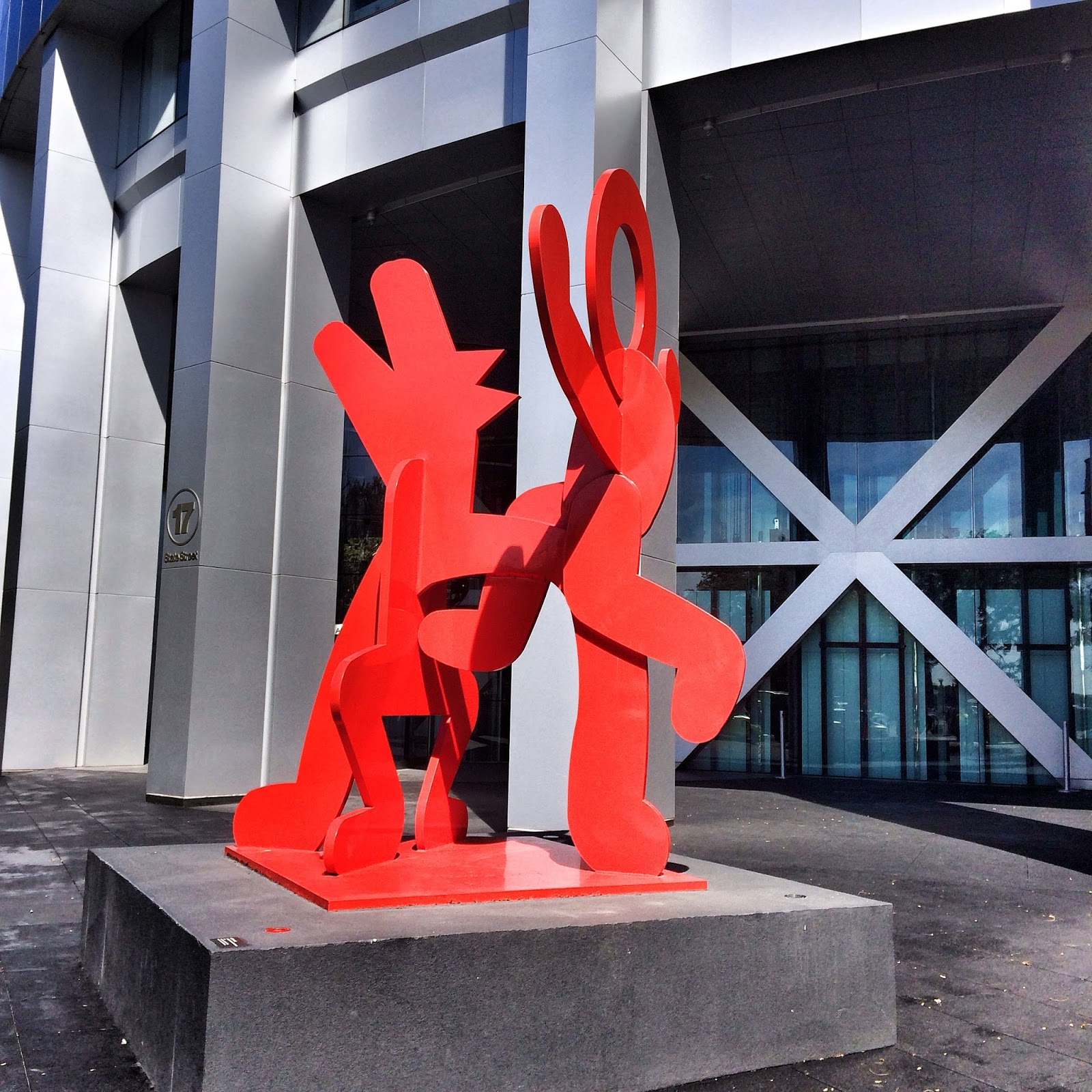 Dancing in the Streets, #keithharing #art #nyc #sculpture 2014