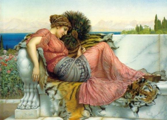 John William Godward Neoclassicism painting