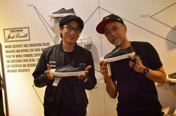 Irman Hilmi & Eddie Lim with Jack Purcell Cross Stitch at Converse x Offday popup launch kl malaysia