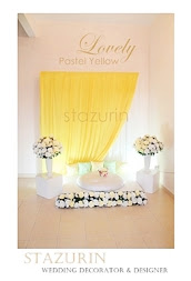 Pelamin Mini Pertunangan/Engagement Pelamin Tema Warna Lovely Pastel Yellow