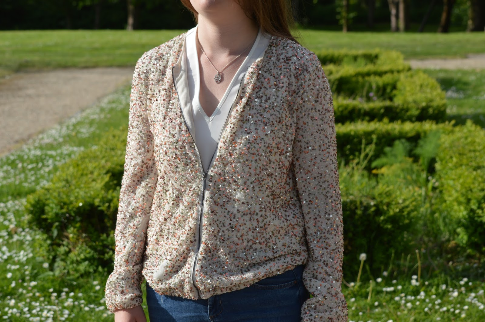 Zara sequin jacket fashion bloggers