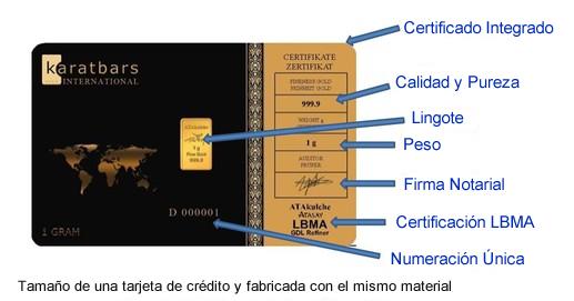 Certificados del oro de Karatbars