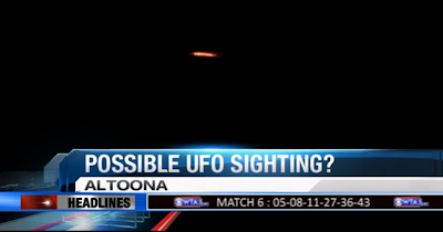 Latest UFO Sightings Orange UFO Captured Above Altoona