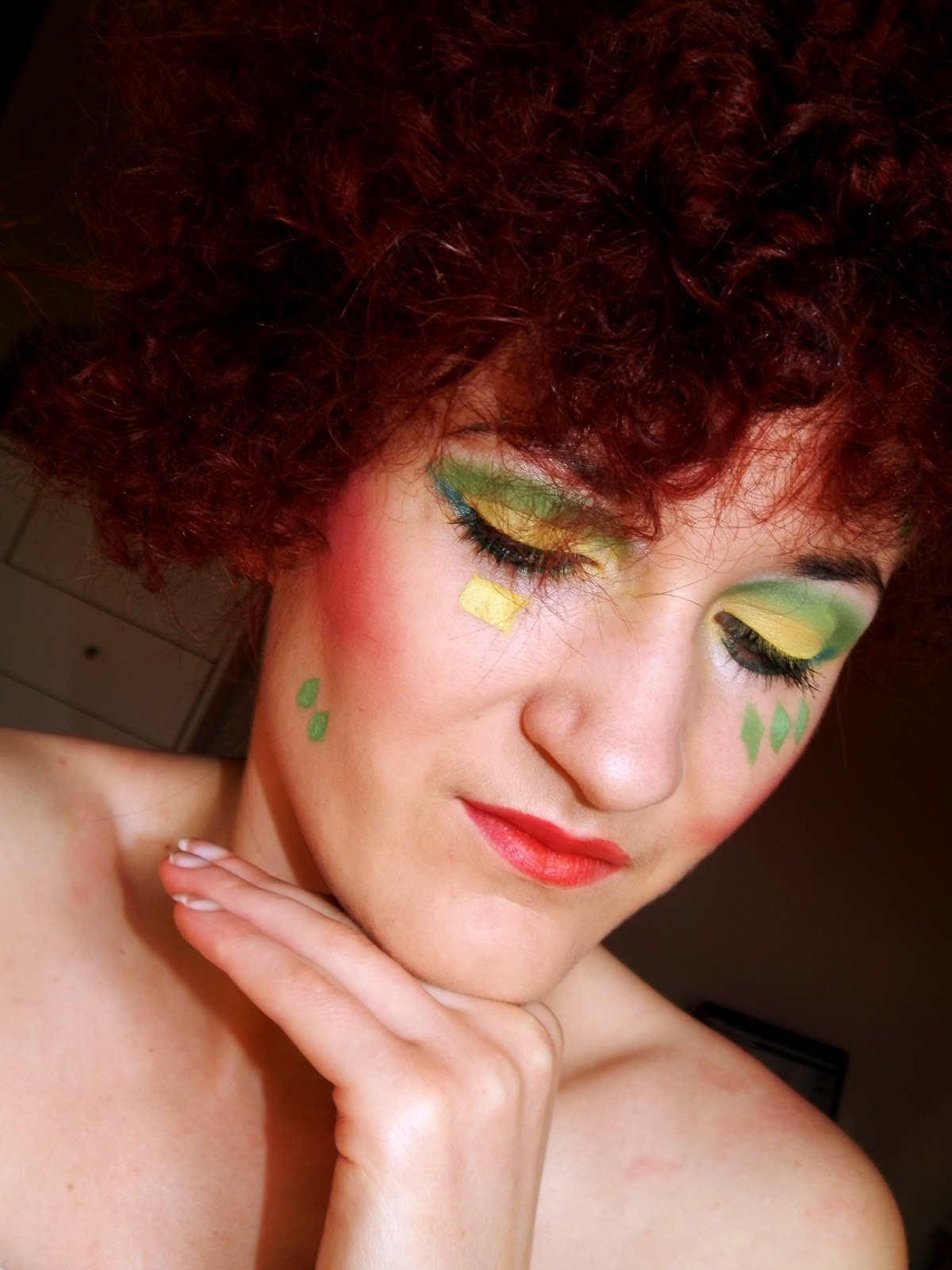 Wehikuł czasu- lata '80 ; makijaż na konkurs u Taida Make-up