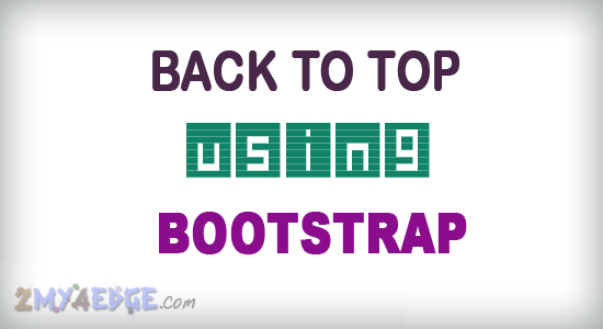 Responsive back to top in bootstrap