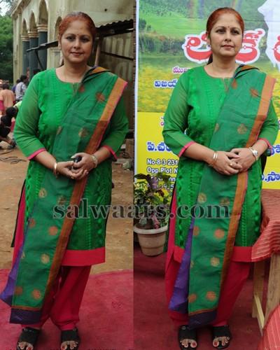Jayasudha Green Salwar Kameez