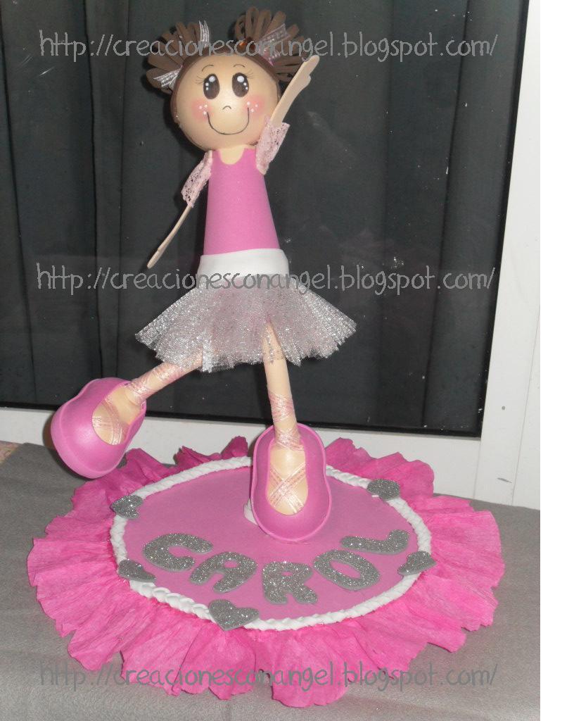 Bailarina Ballet En Foami Graffiti  Pelauts.Com