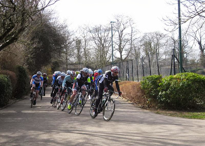 Bikes racing in the park
