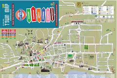 La mappa della città di Scalea