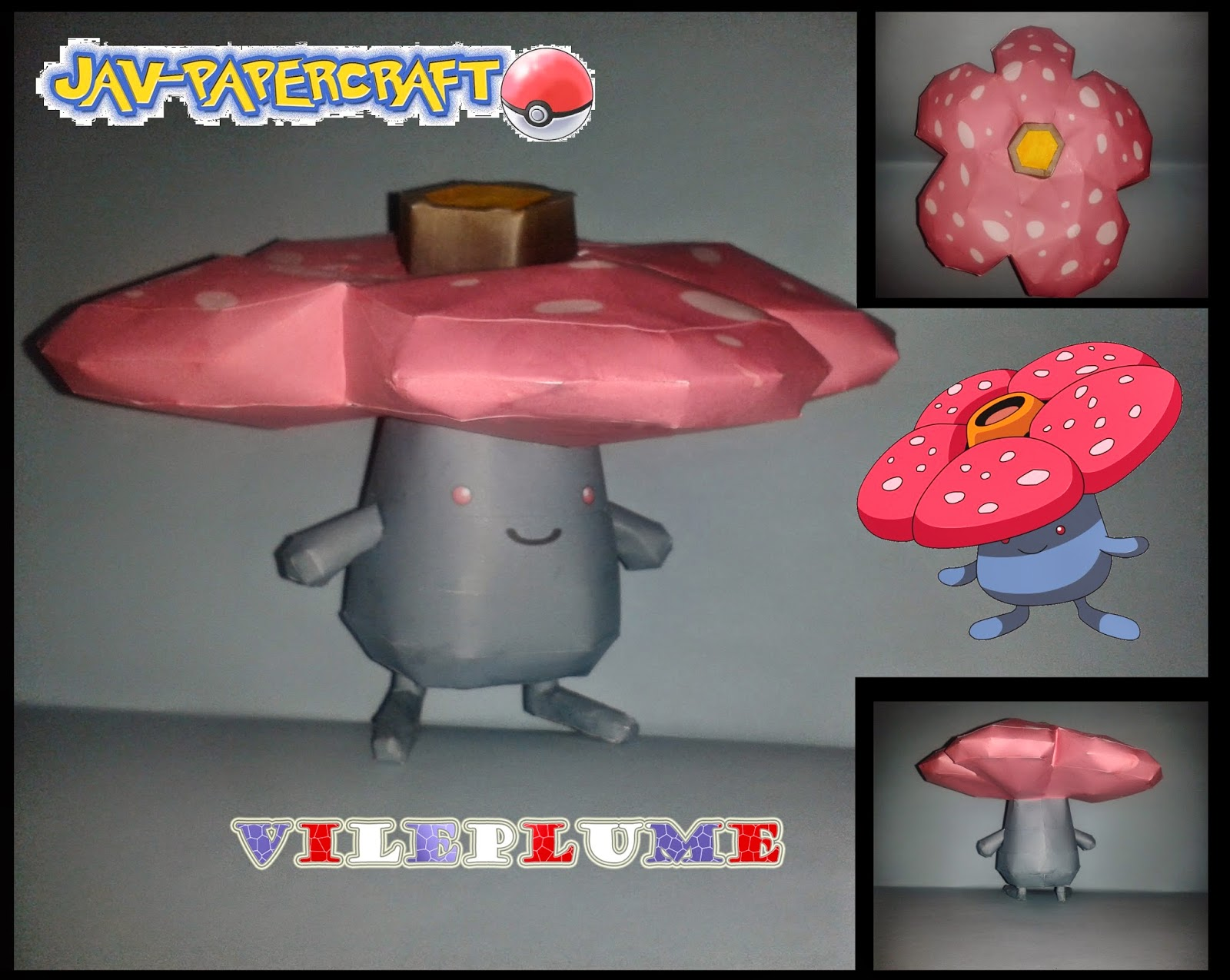 Vileplume Paper Model