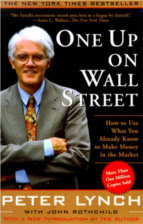 One Up on Wall Street by Peter Lynch book
