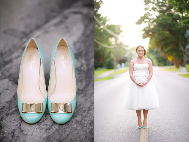 surprise backyard wedding oakville, kate spade shoes