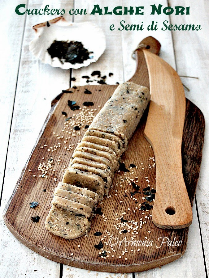 Crackers con Alghe Nori e Semi di Sesamo di Armonia Paleo