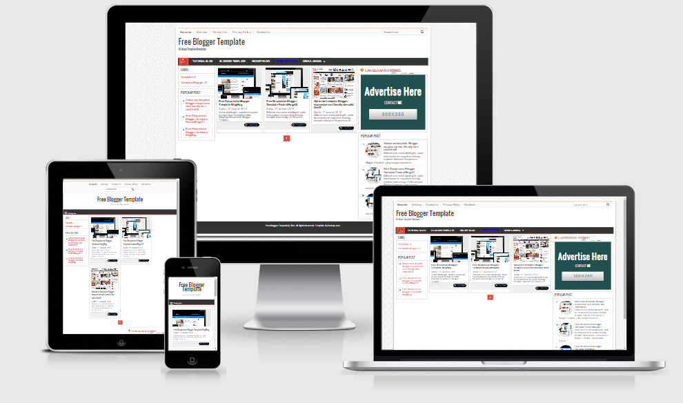 Responsive Blogger Template Adasenze