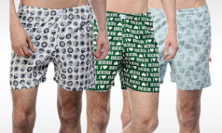 Pack of 3 Printed Boxers for Men at Rs. 307 only