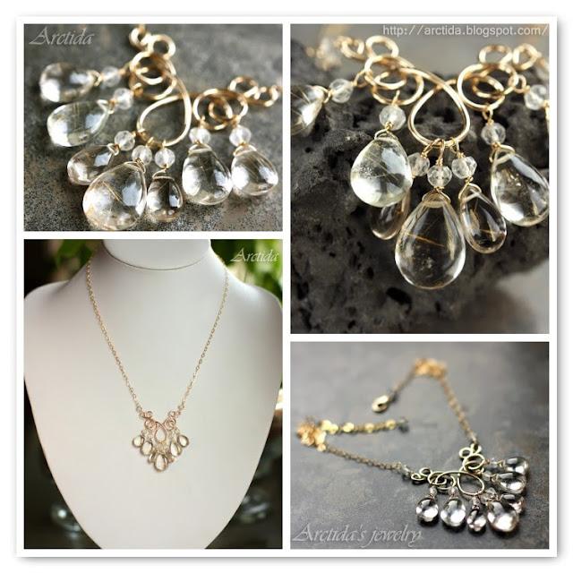 Arctida s creations golden rutilated quartz jewelry for Golden rutilated quartz jewelry