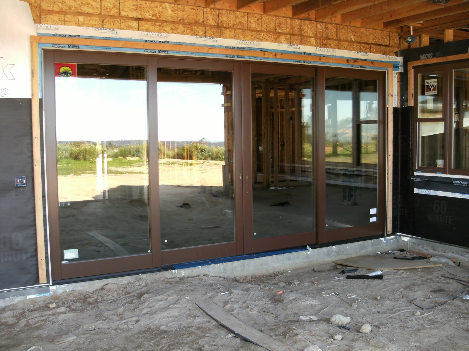 1200 #9E672D These Doors Open And Slide Into The Walls To Eventually Look Like This  save image Sliding Glass Doors Exterior 3071600