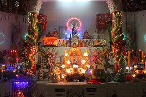 Altar at Dinh Cô temple in Long Hải town