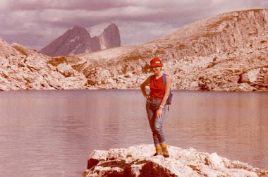 LAGO D'ANTERMOIA (DOLOMITI 1984)