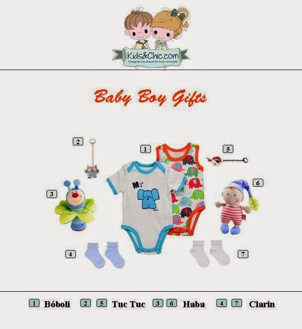 Cute selection of baby boy gifts