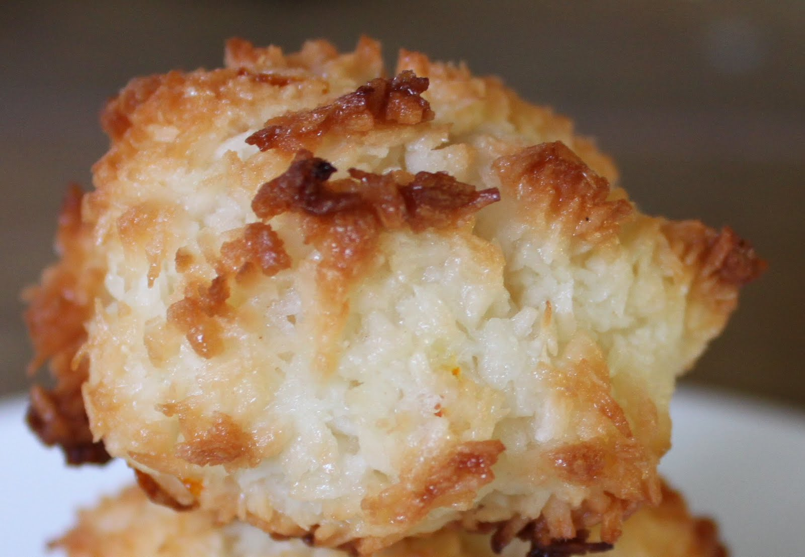 So, I set out to make the coconut macaroons today, which is 84 degrees ...