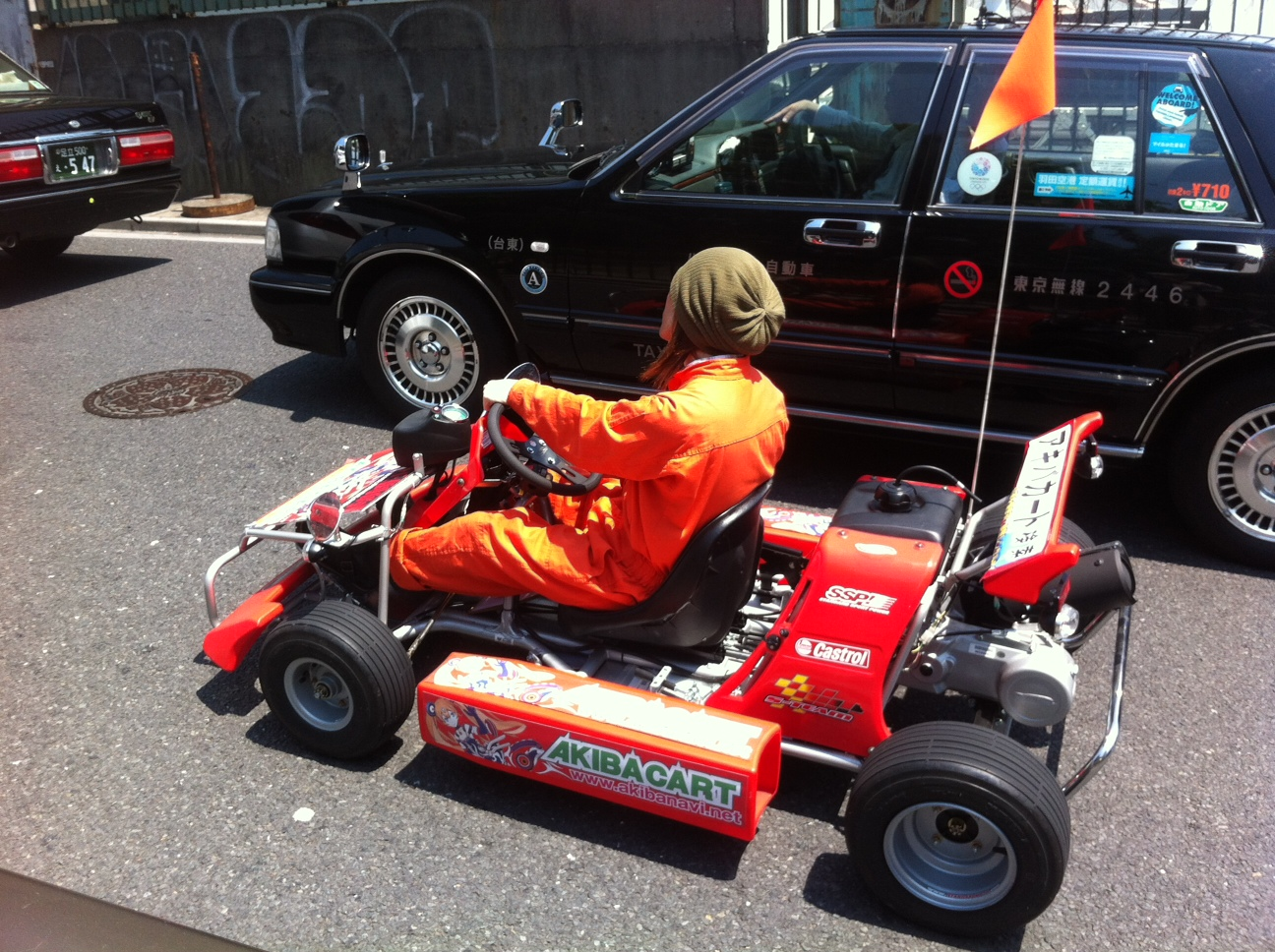 Karting on the streets of Ueno, Tokyo.