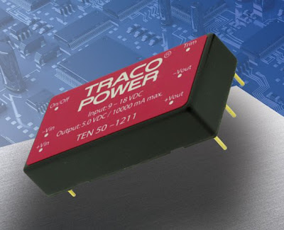 50W DC/DC Converters TRACOPOWER with the Highest Power Density