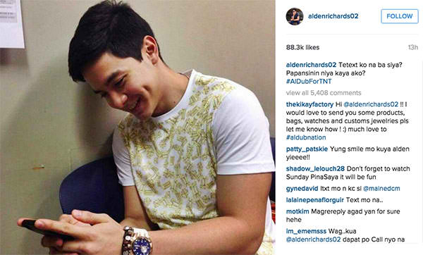 Bae Alden to endorse Talk 'N Text