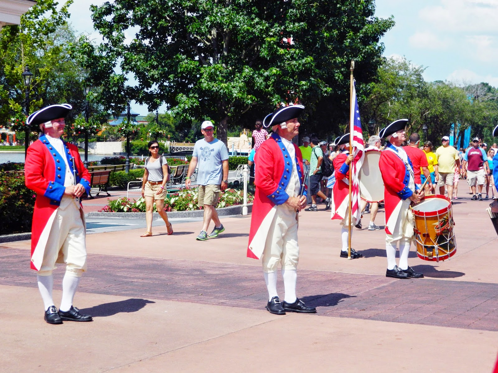 epcot america outfits drums flag