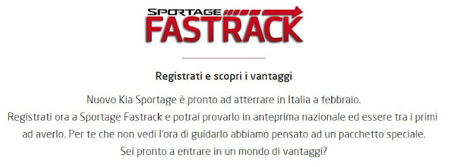 che cos'è kia fast track pre ordine sportage 2016 prima data uscita