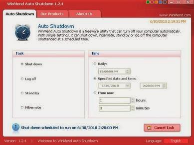 WinMend Auto Shutdown: Mematikan Komputer Secara Otomatis