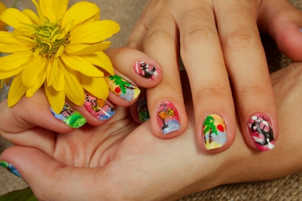 creative nail art funky trend