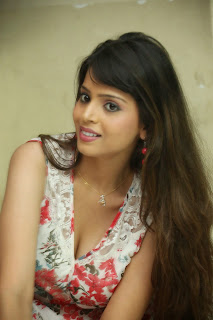 Komal Sharma in Flower Print Short Dress Spicy Pics