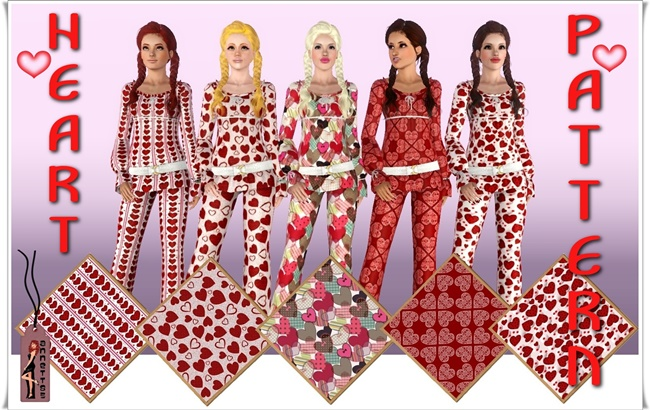 Sims 3 red dress day heart