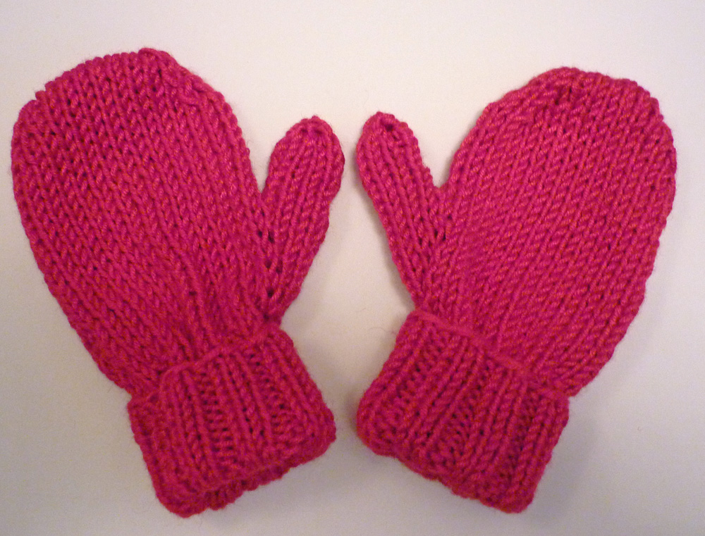 Knitting Pattern For Toddler Mittens With Thumbs : lovefibres: Baby Mittens Knitting Pattern