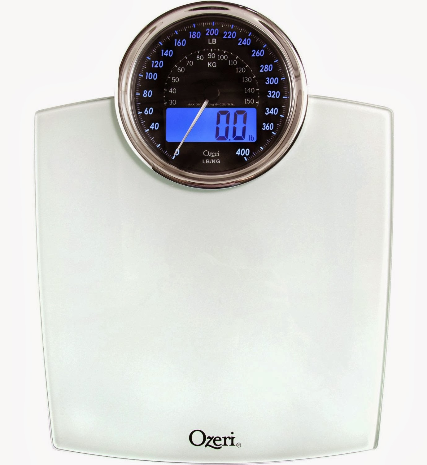 Ozeri Bathroom Scale with Electro-Mechanical Weight Dial