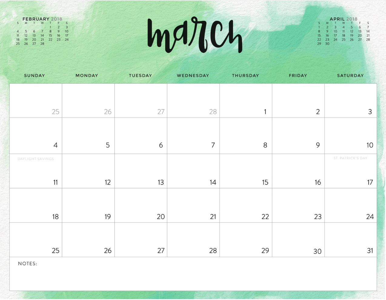 Blank Calendar Of March : March printable calendar free blank