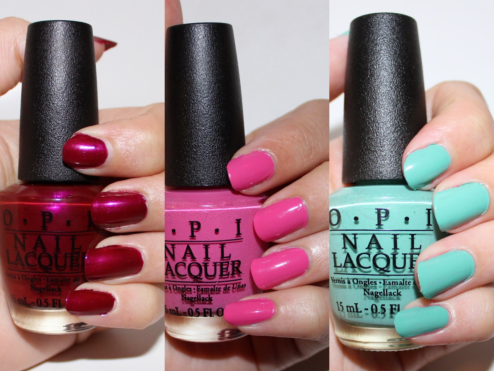 OPI Nordic Collection Swatches