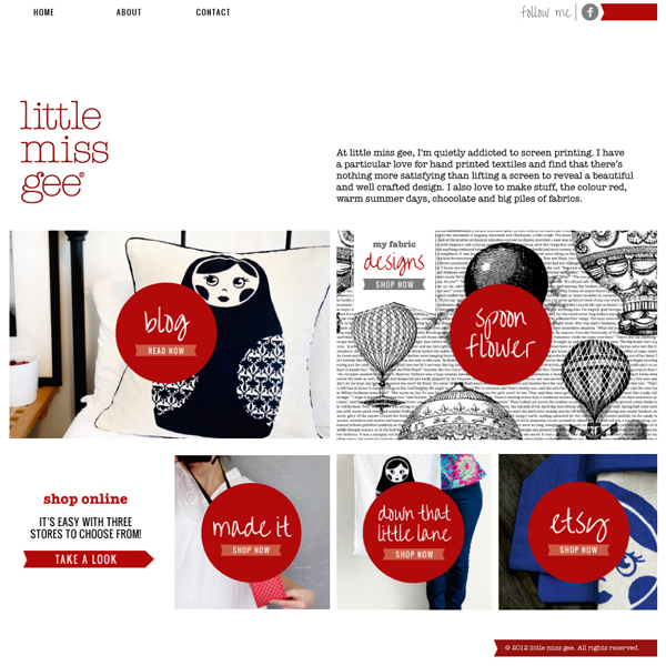 little miss gee's new website