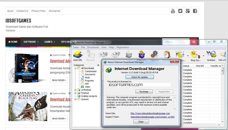 Internet Download Manager 6.21 Build 5