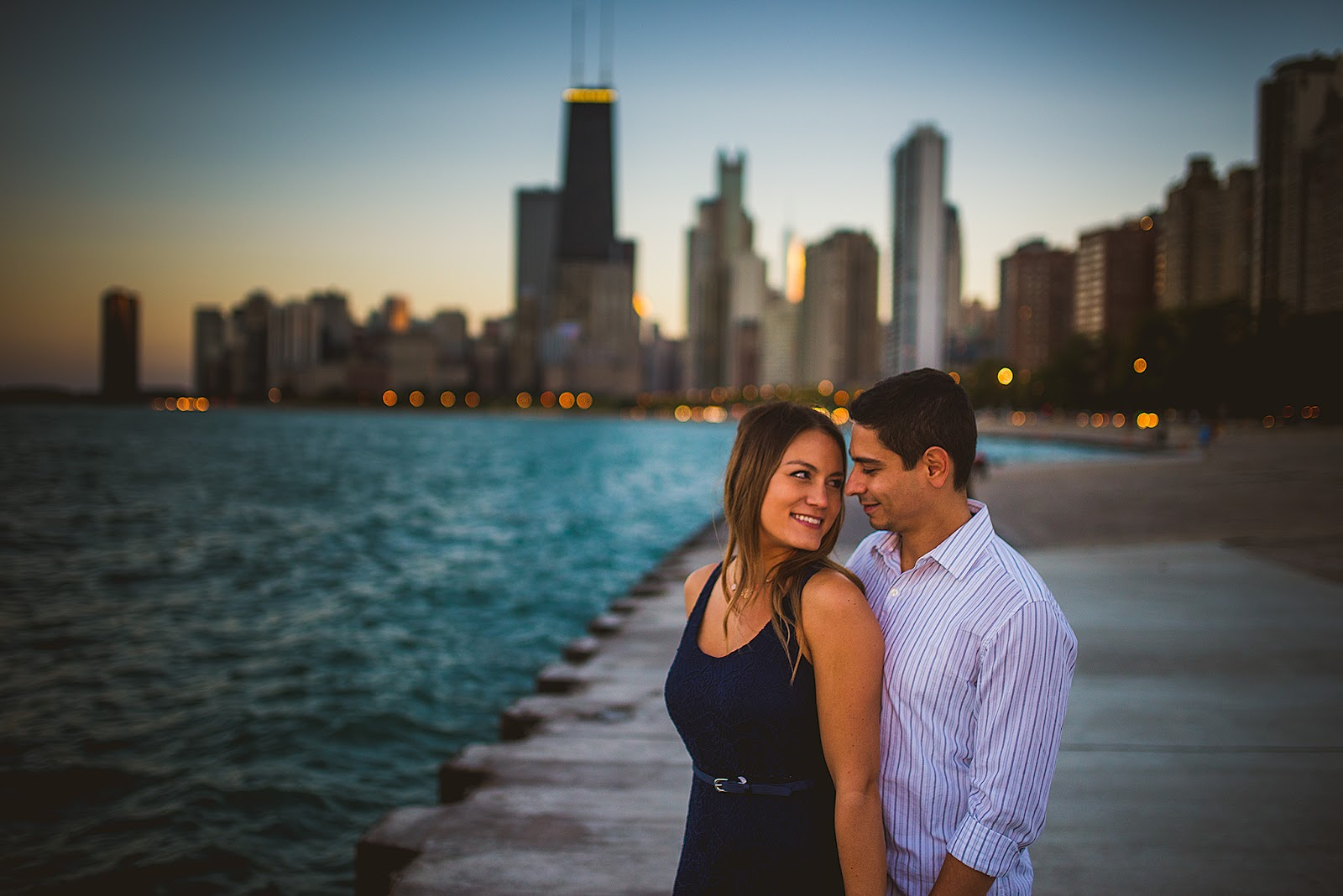 Chicago North Avenue Engagement Photo