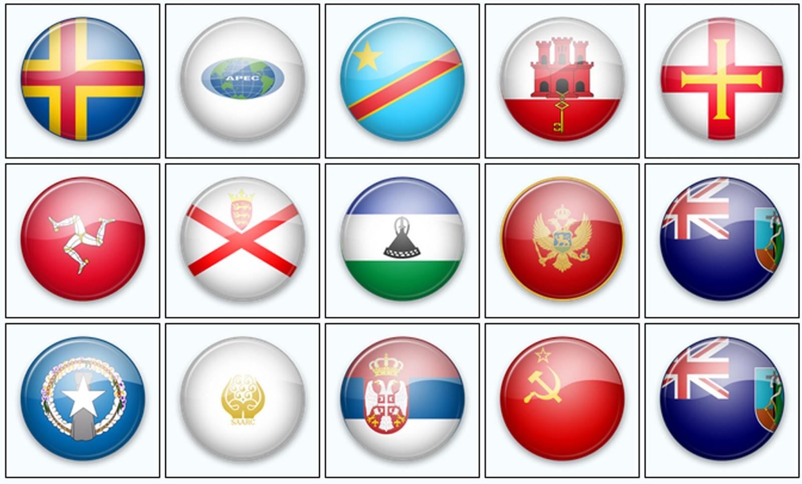 Artes em psd: Textura de cristal (bandeira) - ícone em png