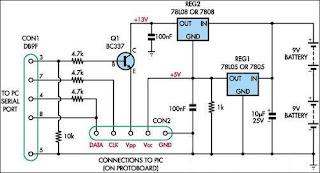 Universal PIC Programmer Circuit diaggram