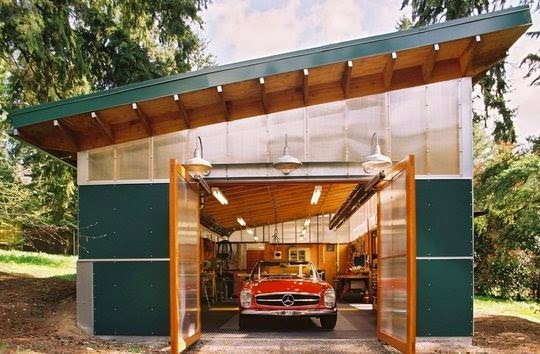 Classic Modern Garage Design Features